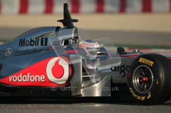 World © Octane Photographic 2010. © Octane Photographic 2011. Formula 1 testing Saturday 19th February 2011 Circuit de Catalunya. McLaren MP4/26 - Jenson Button. Digital ref : 0025CB1D0034