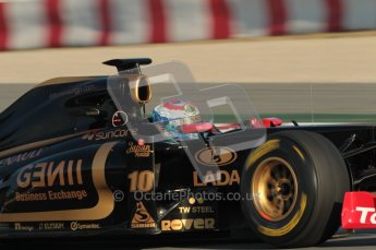 World © Octane Photographic 2010. © Octane Photographic 2011. Formula 1 testing Saturday 19th February 2011 Circuit de Catalunya. Renault R31 - Vitaly Petrov. Digital ref : 0025CB1D0096