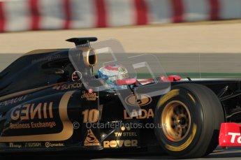 World © Octane Photographic 2010. © Octane Photographic 2011. Formula 1 testing Saturday 19th February 2011 Circuit de Catalunya. Renault R31 - Vitaly Petrov. Digital ref : 0025CB1D0096