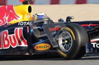 World © Octane Photographic 2010. © Octane Photographic 2011. Formula 1 testing Saturday 19th February 2011 Circuit de Catalunya. Red Bull RB7 - Sebastian Vettel. Digital ref : 0025CB1D0236