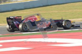 World © Octane Photographic 2010. © Octane Photographic 2011. Formula 1 testing Saturday 19th February 2011 Circuit de Catalunya. Red Bull RB7 - Sebastian Vettel. Digital ref : 0025CB1D0311