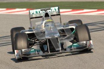 World © Octane Photographic 2010. © Octane Photographic 2011. Formula 1 testing Saturday 19th February 2011 Circuit de Catalunya. Mercedes MGP W02 - Nico Rosberg. Digital ref : 0025CB1D0405