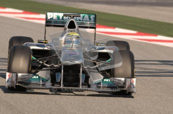 World © Octane Photographic 2010. © Octane Photographic 2011. Formula 1 testing Saturday 19th February 2011 Circuit de Catalunya. Mercedes MGP W02 - Nico Rosberg. Digital ref : 0025CB1D0416