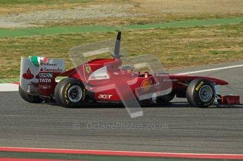 World © Octane Photographic 2010. © Octane Photographic 2011. Formula 1 testing Saturday 19th February 2011 Circuit de Catalunya. Ferrari 150° Italia - Fernando Alonso. Digital ref : 0025CB1D0490