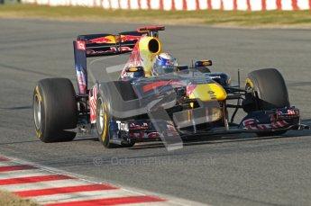 World © Octane Photographic 2010. © Octane Photographic 2011. Formula 1 testing Saturday 19th February 2011 Circuit de Catalunya. Red Bull RB7 - Sebastian Vettel. Digital ref : 0025CB1D0565