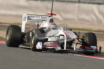World © Octane Photographic 2010. © Octane Photographic 2011. Formula 1 testing Saturday 19th February 2011 Circuit de Catalunya. Sauber C30 - Kamui Kobayashi. Digital ref : 0025CB1D0788