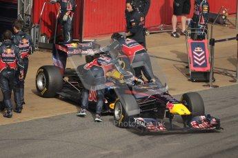 World © Octane Photographic 2010. © Octane Photographic 2011. Formula 1 testing Saturday 19th February 2011 Circuit de Catalunya. Red Bull RB7 - Sebastian Vettel. Digital ref : 0025CB1D0932