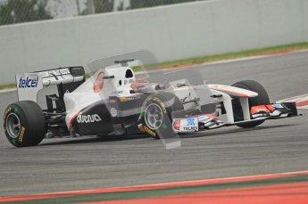 World © Octane Photographic 2011. Formula 1 testing Wednesday 9th March 2011 Circuit de Catalunya. Sauber C30 - Kamui Kobayashi. Digital ref : 0020CB1D1626