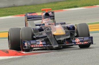 World © Octane Photographic 2011. Formula 1 testing Wednesday 9th March 2011 Circuit de Catalunya. Toro Rosso STR6 - Sebastien Buemi. Digital ref : 0020CB1D2235