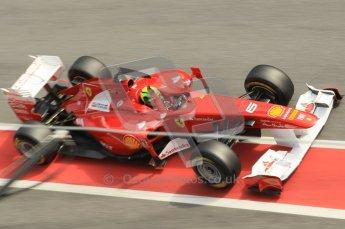 World © Octane Photographic 2011. Formula 1 testing Wednesday 9th March 2011 Circuit de Catalunya. Ferrari 150° Italia - Felipe Massa. Digital ref : 0020CB1D2669
