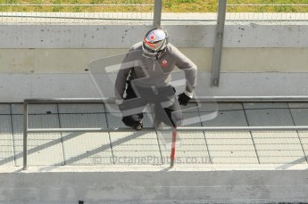 World © Octane Photographic 2011. Formula 1 testing Wednesday 9th March 2011 Circuit de Catalunya. McLaren pit wall. Digital ref : 0020CB1D2699