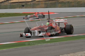 World © Octane Photographic 2011. Formula 1 testing Wednesday 9th March 2011 Circuit de Catalunya. Ferrari 150° Italia - Felipe Massa. Digital ref : 0020LW7D0011