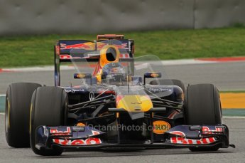 World © Octane Photographic 2011. Formula 1 testing Wednesday 9th March 2011 Circuit de Catalunya. Red Bull RB7 - Sebastian Vettel. Digital ref : 0020LW7D0088