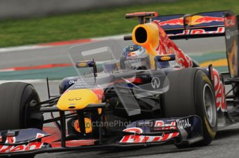 World © Octane Photographic 2011. Formula 1 testing Wednesday 9th March 2011 Circuit de Catalunya. Red Bull RB7 - Sebastian Vettel. Digital ref : 0020LW7D0108