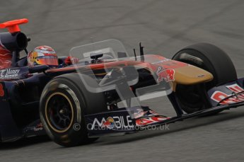 World © Octane Photographic 2011. Formula 1 testing Wednesday 9th March 2011 Circuit de Catalunya. Toro Rosso STR6 - Sebastien Buemi. Digital ref : 0020LW7D8672