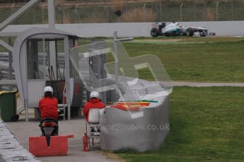 World © Octane Photographic 2011. Formula 1 testing Wednesday 9th March 2011 Circuit de Catalunya. Mercedes MGP W02 - Nico Rosberg. Digital ref : 0020LW7D8695