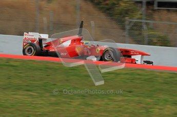 World © Octane Photographic 2011. Formula 1 testing Wednesday 9th March 2011 Circuit de Catalunya. Ferrari 150° Italia - Felipe Massa. Digital ref : 0020LW7D9075