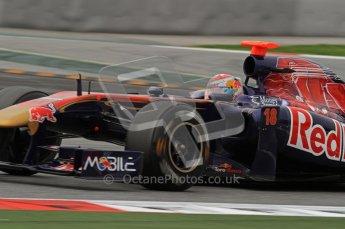 World © Octane Photographic 2011. Formula 1 testing Wednesday 9th March 2011 Circuit de Catalunya. Toro Rosso STR6 - Sebastien Buemi. Digital ref : 0020LW7D9709