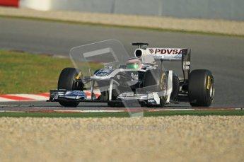 World © Octane Photographic 2011. Formula 1 testing Thursday 10th March 2011 Circuit de Catalunya. Williams FW33 - Rubens Barrichello. Digital ref : 0023cb1d2911