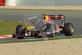 World © Octane Photographic 2011. Formula 1 testing Thursday 10th March 2011 Circuit de Catalunya. Red Bull RB7 - Mark Webber. Digital ref : 0023cb1d2920