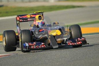 World © Octane Photographic 2011. Formula 1 testing Thursday 10th March 2011 Circuit de Catalunya. Red Bull RB7 - Mark Webber. Digital ref : 0023cb1d3006