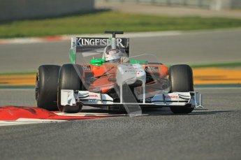 World © Octane Photographic 2011. Formula 1 testing Thursday 10th March 2011 Circuit de Catalunya. Force India VJM04 - Adrian Sutil. Digital ref : 0023CB1D3072