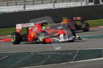 World © Octane Photographic 2011. Formula 1 testing Thursday 10th March 2011 Circuit de Catalunya. Ferrari 150° Italia - Felipe Massa. Digital ref : 0023LW7D1285