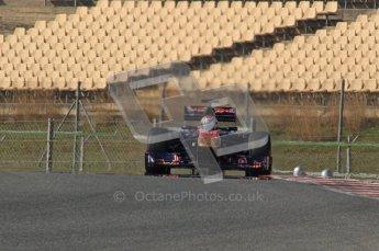 World © Octane Photographic 2011. Formula 1 testing Thursday 10th March 2011 Circuit de Catalunya. Toro Rosso STR6 - Jamie Alguersuari. Digital ref : 0023LW7D1451