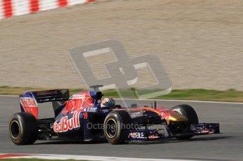 World © Octane Photographic 2011. Formula 1 testing Thursday 10th March 2011 Circuit de Catalunya. Toro Rosso STR6 - Jamie Alguersuari. Digital ref : 0023LW7D1722