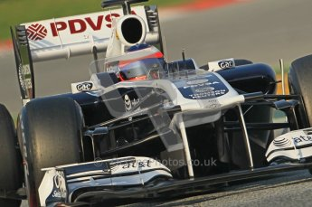 World © Octane Photographic 2011. Formula 1 testing Friday 11th March 2011 Circuit de Catalunya. Williams FW33 - Rubens Barrichello. Digital ref : 0022CB1D3315