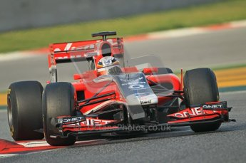 World © Octane Photographic 2011. Formula 1 testing Friday 11th March 2011 Circuit de Catalunya. Virgin MVR-02 - Jerome d'Ambrosio. Digital ref : 0022CB1D3382