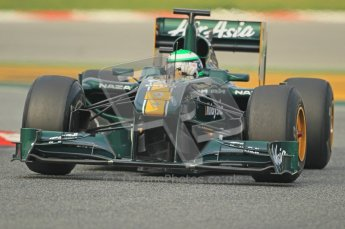 World © Octane Photographic 2011. Formula 1 testing Friday 11th March 2011 Circuit de Catalunya. Lotus T124 - Heikki Kovalainen. Digital ref : 0022CB1D3408