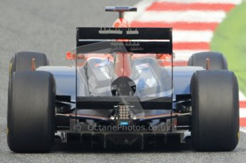 World © Octane Photographic 2011. Formula 1 testing Friday 11th March 2011 Circuit de Catalunya. Virgin MVR-02 - Jerome d'Ambrosio. Digital ref : 0022CB1D3718