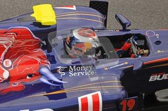World © Octane Photographic 2011. Formula 1 testing Friday 11th March 2011 Circuit de Catalunya. Toro Rosso STR6 - Jamie Alguersuari. Digital ref : 0022CB1D3975