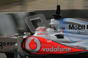 World © Octane Photographic 2011. Formula 1 testing Friday 11th March 2011 Circuit de Catalunya. McLaren MP4/26 - Jenson Button. Digital ref : 0022LW7D2405