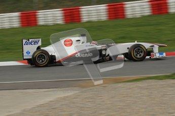 World © Octane Photographic 2011. Formula 1 testing Friday 11th March 2011 Circuit de Catalunya. Sauber C30 - Kamui Kobayashi. Digital ref : 0022LW7D2877