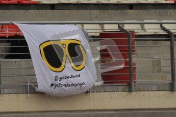 World © Octane Photographic 2011. Formula 1 testing Friday 11th March 2011 Circuit de Catalunya. Yellow Shades Project. Digital ref : 0022LW7D3304