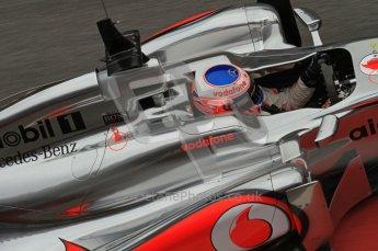 World © Octane Photographic 2011. Formula 1 testing Friday 11th March 2011 Circuit de Catalunya. McLaren MP4/26 - Jenson Button. Digital ref : 0022LW7D3514