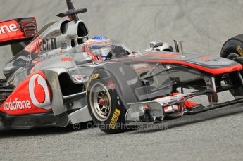 World © Octane Photographic 2011. Formula 1 testing Tuesday 8th March 2011 Circuit de Catalunya. McLaren MP4/26 - Jenson Button. Digital ref : 0017CB1D0603