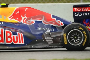 World © Octane Photographic 2011. Formula 1 testing Tuesday 8th March 2011 Circuit de Catalunya. Red Bull RB7 - Mark Webber. Digital ref : 0017CB1D0932
