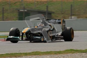 World © Octane Photographic 2011. Formula 1 testing Tuesday 8th March 2011 Circuit de Catalunya. Lotus T124 - Davide Valsecchi.  Digital ref : 0017LW7D7854