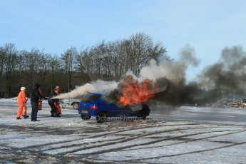 World © Octane Photographic Ltd. BMMC trainee marshals' fire training day, Donington Park. 26th January 2013. Digital Ref : 0568lw1d7048
