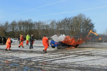 World © Octane Photographic Ltd. BMMC trainee marshals' fire training day, Donington Park. 26th January 2013. Digital Ref : 0568lw1d7139