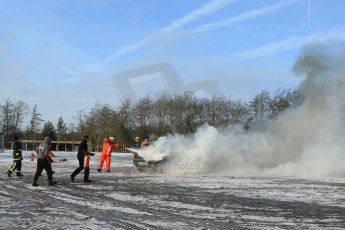 World © Octane Photographic Ltd. BMMC trainee marshals' fire training day, Donington Park. 26th January 2013. Digital Ref : 0568lw1d7223