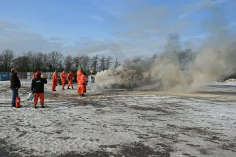 World © Octane Photographic Ltd. BMMC trainee marshals' fire training day, Donington Park. 26th January 2013. Digital Ref : 0568lw1d7241