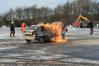 World © Octane Photographic Ltd. BMMC trainee marshals' fire training day, Donington Park. 26th January 2013. Digital Ref : 0568lw1d7267