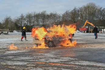 World © Octane Photographic Ltd. BMMC trainee marshals' fire training day, Donington Park. 26th January 2013. Digital Ref : 0568lw1d7268