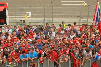 World © Octane Photographic Ltd. F1 Spanish GP Thursday 9th May 2013. Paddock and pitlane. Public pitlane access for driver signings. Digital Ref : 0654cb1d8706