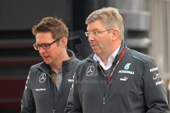 World © Octane Photographic Ltd. F1 Spanish GP Thursday 9th May 2013. Mercedes AMG Petronas, Ross Brawn. Paddock and pitlane. Digital Ref : 0654cb7d8343