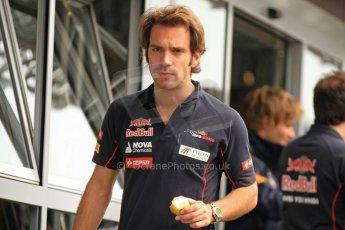 World © Octane Photographic Ltd. F1 Spanish GP Thursday 9th May 2013. Paddock and pitlane. Toro Rosso - Jean-Eric Vergne. Digital Ref : 0654cb7d8479
